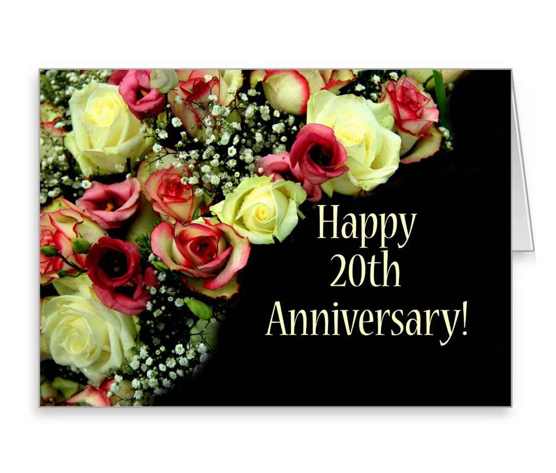 Best Wishes To Mary And Bob On The Occasion Of Their 20th Wedding